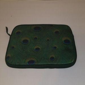Lucky Brand Peacock Padded Tablet Case